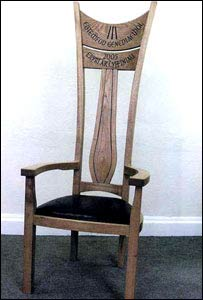 The Eisteddfod chair (picture from Arwyn Roberts)