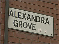 Alexandra Grove street sign
