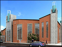 The planned new church in Handsworth