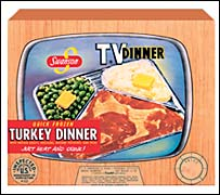 Swanson TV Dinner box from 1954 - courtesy of Pinnacle Foods Corp