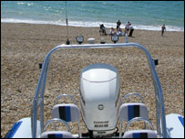 The rib on Seaford beach (from MCA)