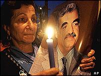 Vigil for Rafik Hariri in Beirut
