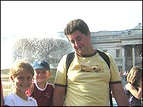Mark Johnston with children Kirby and Harvey