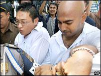 Australians Andrew Chan and Myuran Sukumaran at Bali court - 14/2/06