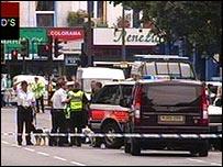 Police cordons in London