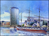 Artist's impression of Glasgow Harbour