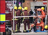 Firefighters in Bethnal Green after Number 26 bus blast (Reader's photo)