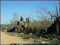 Roadside debris
