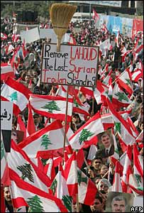 Crowds in Beirut's Martyrs' Square
