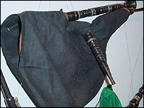 A bagpipe from Brittany, France
