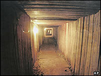 Drug-smuggling tunnel between Canada and the US
