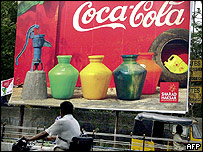 Coca-Cola billboard in India