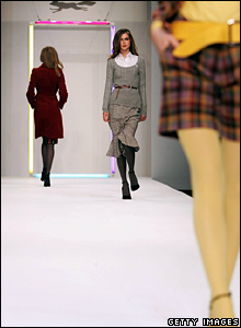 Paul Costelloe model at London Fashion Week