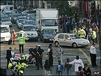 Operativo policial en Londres.