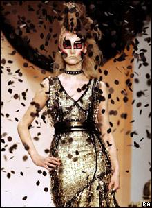 Ashley Isham model at London Fashion Week