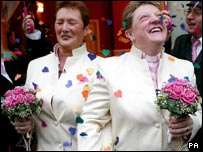 Tying the knot in a civil partnership or 'gay marriage' in Brighton