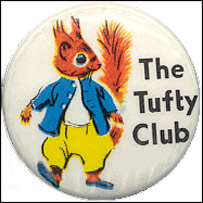Tufty Club badge, via Scary Squirrel