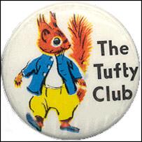 Tufty Club badge, via Scary Squirrel