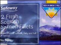Scottish salmon packet