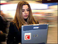 Image of woman on a laptop