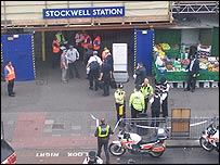BBC News website reader Chris Pollard sent this picture of Stockwell station after the shooting