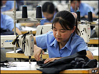 Textile worker in China