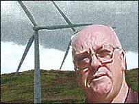 Bob Mills - background montage image of windfarm