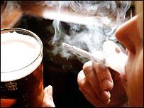 Smoking in pub