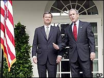 John Roberts with President Bush