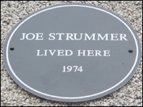 Plaque for Joe Strummer