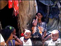 Displaced Somalis in Mogadishu