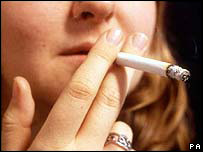 A female smoker