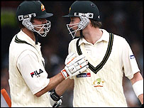 Damien Martyn and Michael Clarke