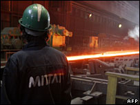 Mittal steel plant in Poland