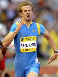 Tim Benjamin in action in London