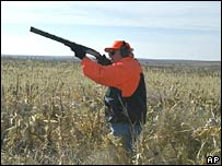 Vice-President Dick Cheney hunting quail in Gettysburg in 2002