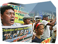 Protestors calling for Gloria Arroyo to be impeached