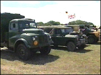Military vehicles at the War and Peace Show in Kent
