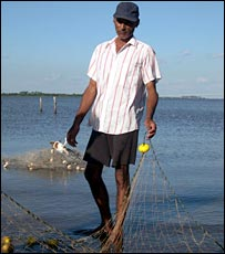 Luis, a fisherman on the Uruguayan side of the river