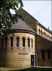 Photo of the converted chapel occupied by Demand