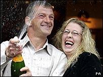 Lottery winners David and Michelle Turnbull, who won a £4.5m jackpot