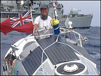 Roz Savage and HMS Southampton