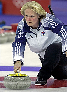 Rhona Martin in action against Sweden