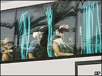 Tourists on coach in Sharm al-Sheikh