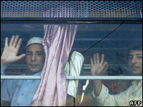 Afghans released by Pakistan