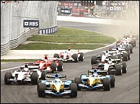 The start of the 2005 Canadian Grand Prix