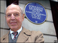 Richard Hottelet and the blue plaque