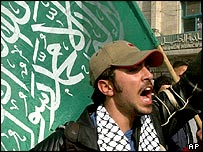 Hamas supporter in Hebron