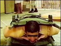 Image of suspected Abu Ghraib abuse