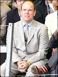 Prince Albert II of Monaco is among the fans cheering on Armstrong